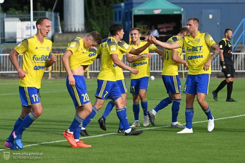 GKS Jastrzębie - Arka Gdynia (28.08.2020). Żółto-niebiescy zwyciężyli różnicą czterech bramek. Oceniamy piłkarzy Arki Gdynia za ten mecz