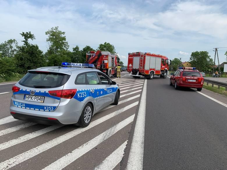 Do zdarzenia doszło we wtorek po godz. 9 na drodze krajowej nr 77 w Zadąbrowiu koło Przemyśla.- Kierujący toyotą yaris, 82-letni mieszkaniec Lubaczowa
