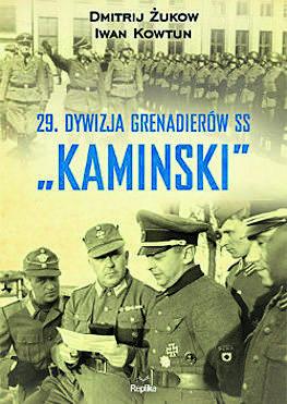 Dowódca pułku major Iwan Frołow (pośrodku) z oficerami RONA podczas powstania warszawskiego