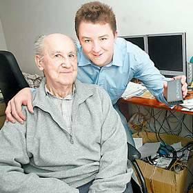 Jacek Karpiński z synem Danielem, który idzie w ślady ojca.