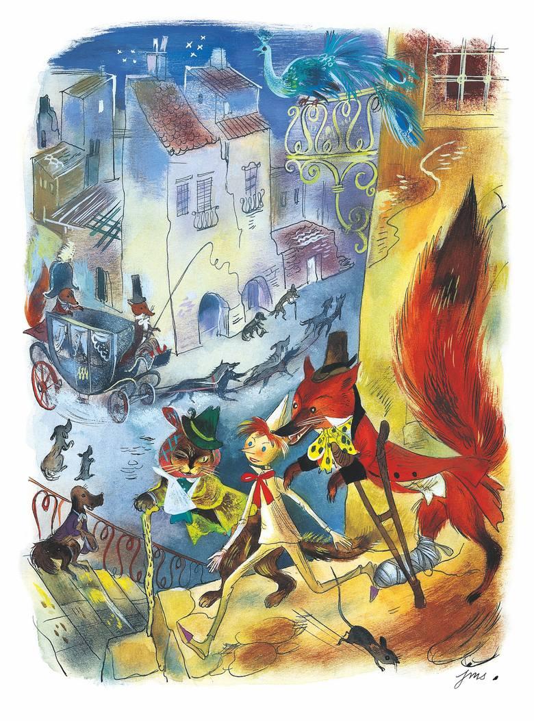 """Na wystawie zobaczymy m.in. ilustrację do """"Pinokio""""."""