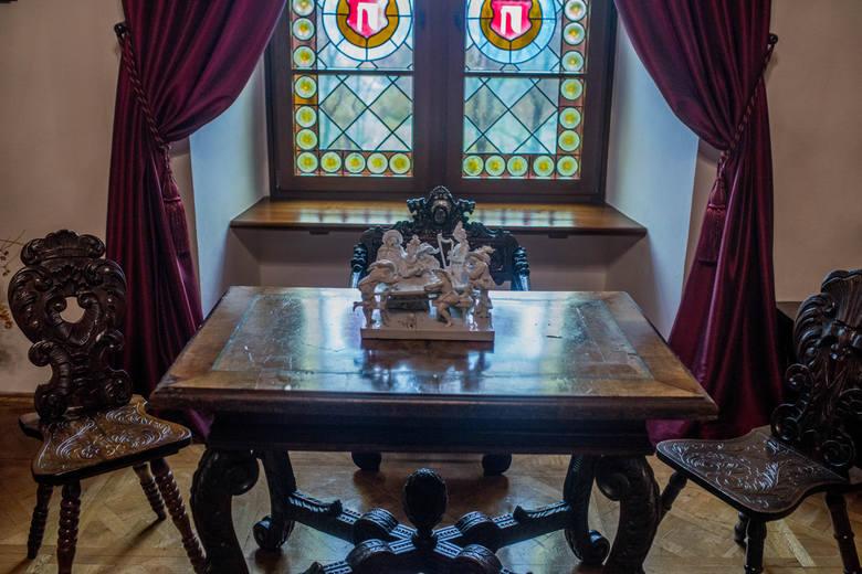 Zamkowy salon dla gości