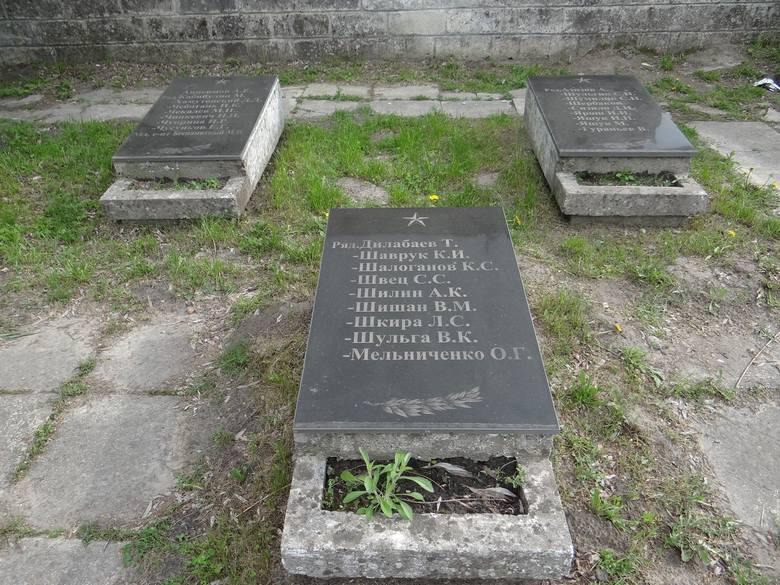Zaniedbany cmentarz żołnierzy radzieckich u stóp Liceum Krzemienieckiego