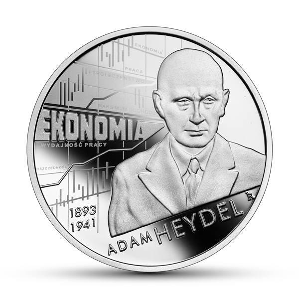 """25 marca w serii """"Wielcy polscy ekonomiści"""" ukaże się kolejna moneta przypominająca niezwykłą krakowską postać ze świata ekonomii - Adama Heydla"""