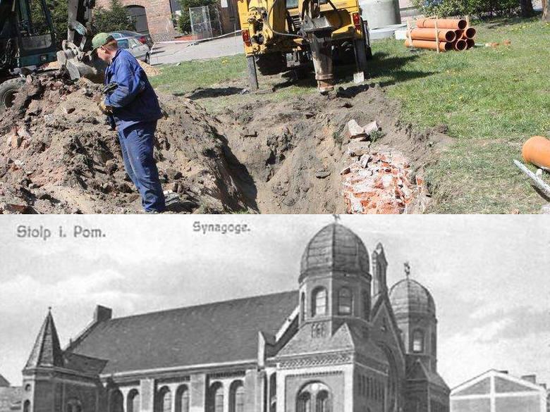 Tyle zachowało się po synagodze pod ziemią do dziś. Fachowcy sprawdzą, czy sklepienia nie kryją piwnic.