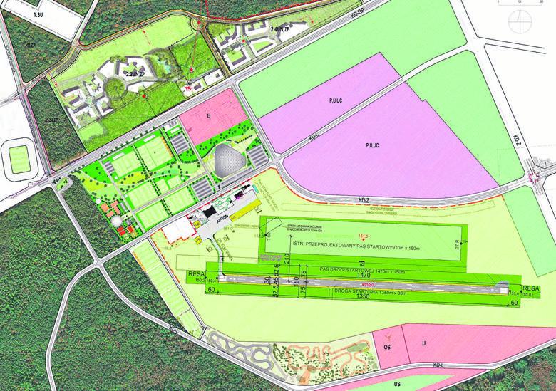 Tak wygląda prezentowana przez urbanistów koncepcja zagospodarowania Krywlan. Miejsce na boiska jest. I to całkiem sporo.
