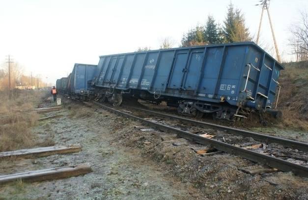 Strabla: Wykolejenie pociągu towarowego (zdjęcia)