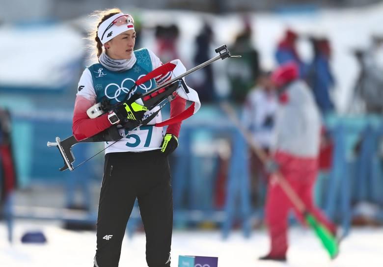 Monika Hojnsz podczas igrzysk w Pjongczang