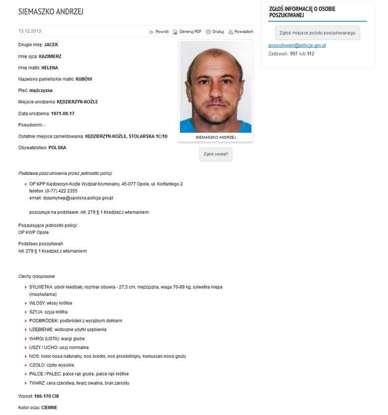 Opolskie komendy i komisariaty szukają tych osób za kradzieże i włamania (art. 279 kodeksu karnego). Jeżeli posiadasz jakiekolwiek informacje na temat
