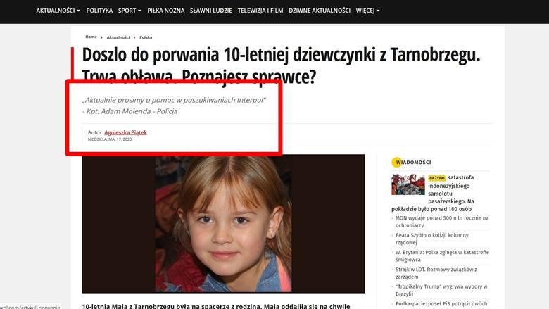 Tarnobrzeg. 10-letnia Maja, Kasia, Julka nie zaginęła. Nie udostępniaj tamtego posta, nie klikaj w link!