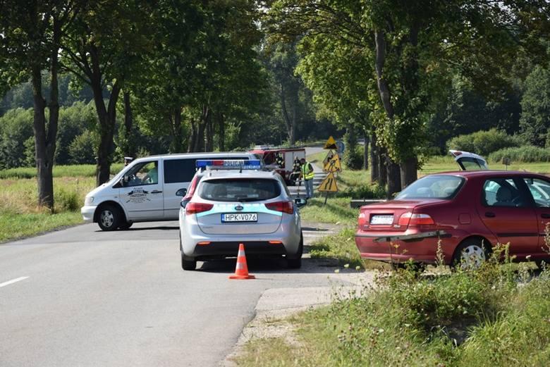 We wtorek w Górze Motycznej zginął motocyklista. Zdjęcia z miejsca wypadku.