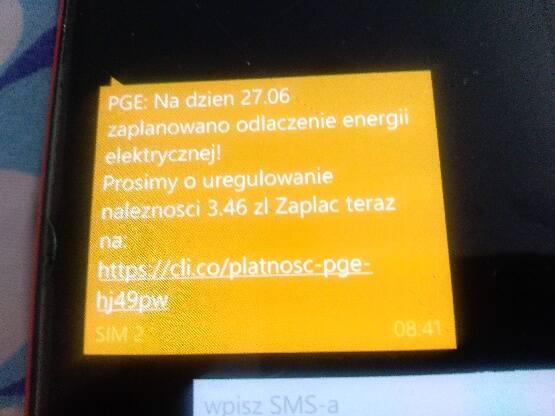 Bydgoszczanin zapłacił rachunek, a mimo to dostał SMS-a, że zostanie bez prądu
