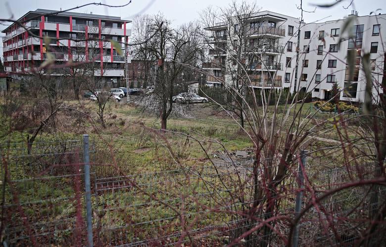 Miejsce, gdzie miasto chce budować blok komunalny przy ulicy Fredry
