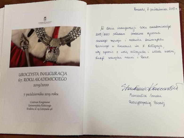 Kraków. Inauguracja roku na Uniwersytecie Rolniczym [ZDJĘCIA]
