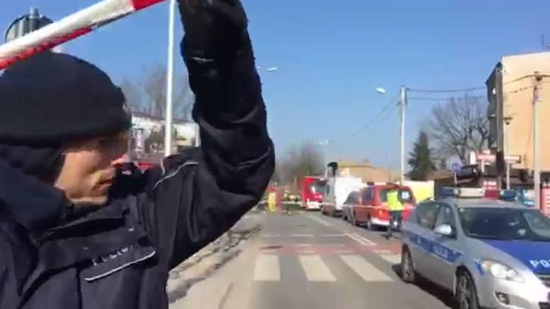 Wybuch na Dębcu w Poznaniu: Policjanci przejęli teren gruzowiska. Rozpoczynają oględziny