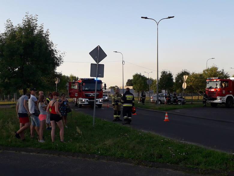 Do kolizji doszło na ulicy Wybickiego w Dąbrowie Górniczej