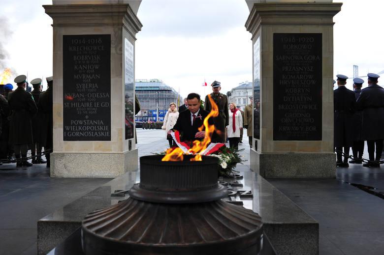 Święto Niepodległości 2015. Uroczystości na placu Piłsudskiego
