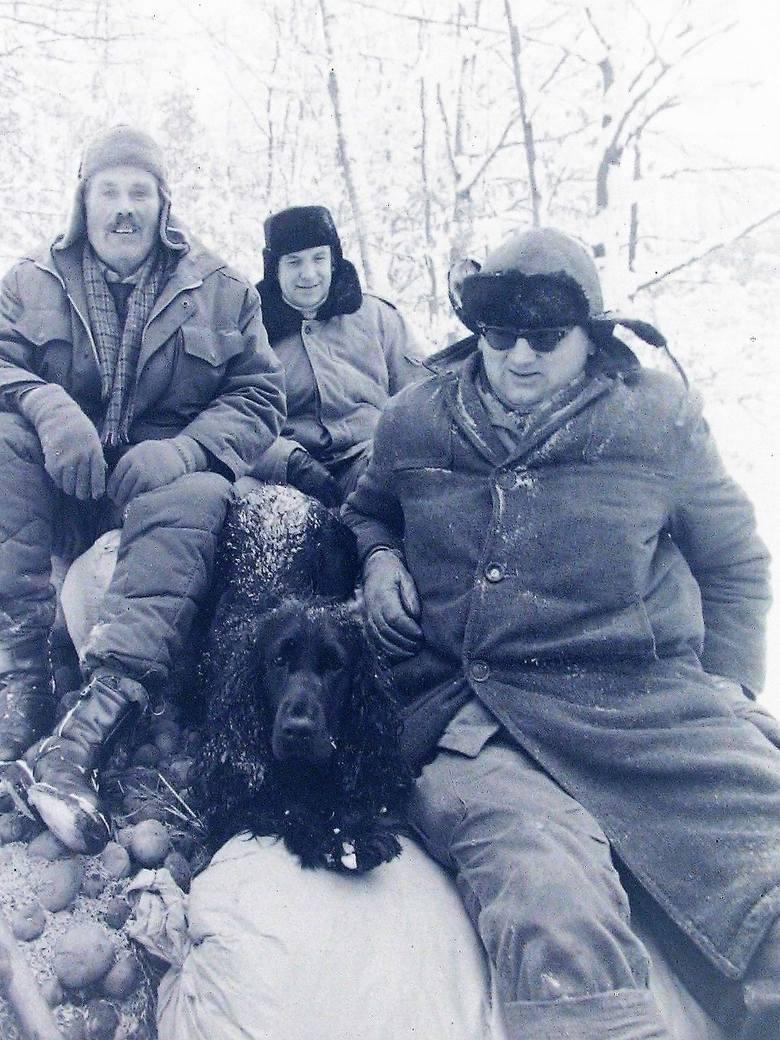 Tym razem nie na polowanie a na dokarmianie zwierzyny – styczeń 1979.
