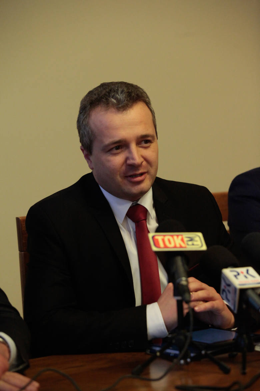 Konferencja prasowa w Urzędzie Wojewódzkim w Bydgoszczy.
