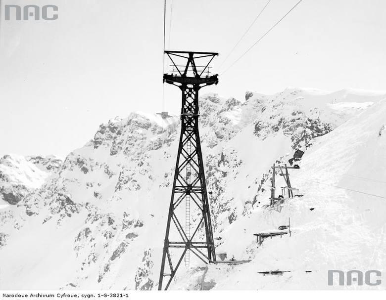 Budowa kolejki na Kasprowy Wierch. Ponad 180 tysięcy fotografii z Narodowego Archiwum Cyfrowego <a href=