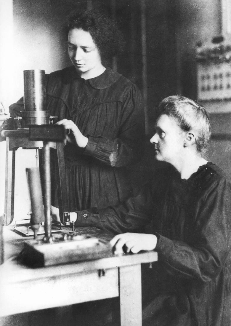 Maria Skłodowska-Curie z córką Ireną.