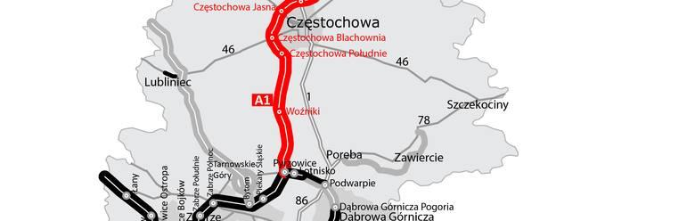 Częstochowa: Budowa autostrady A1. Wybrano konsorcjum, które dokończy inwestycję