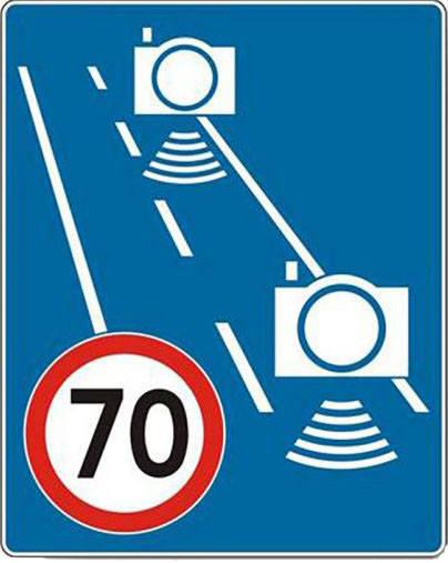 Nowe znaki montowane są wyłącznie w miejscach odcinkowego pomiaru prędkości.Odcinkowy pomiar prędkości odbywa się bez udziału policjantów więc nawet