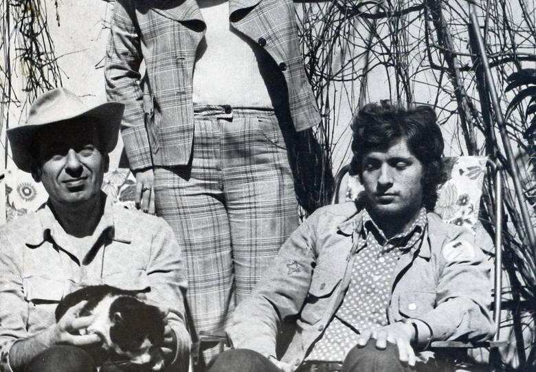 Andrzej Waligórski (z lewej) z synem Markiem