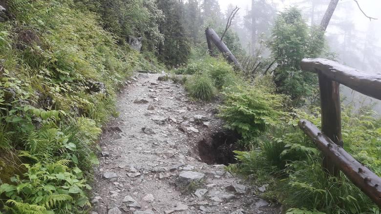 Powódź w górach. Wycieczki w Tatry (także słowackie) trzeba odłożyć na kilka dni!