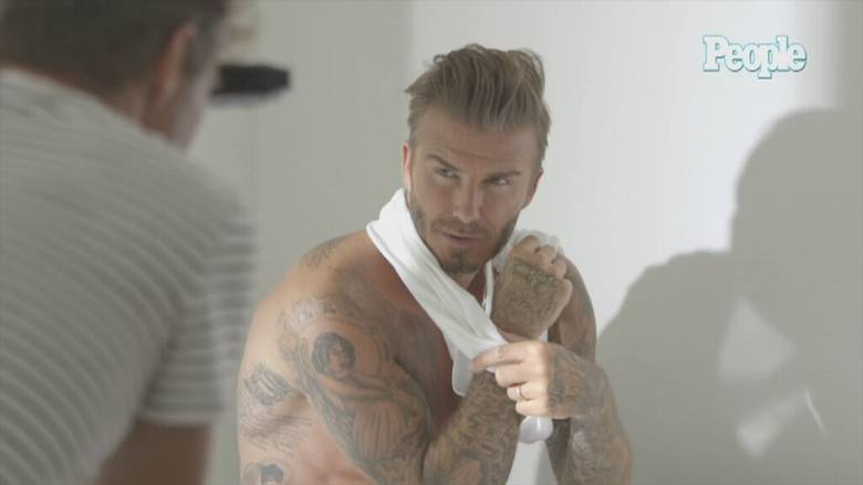 David Beckham w gorącej sesji zdjęciowej