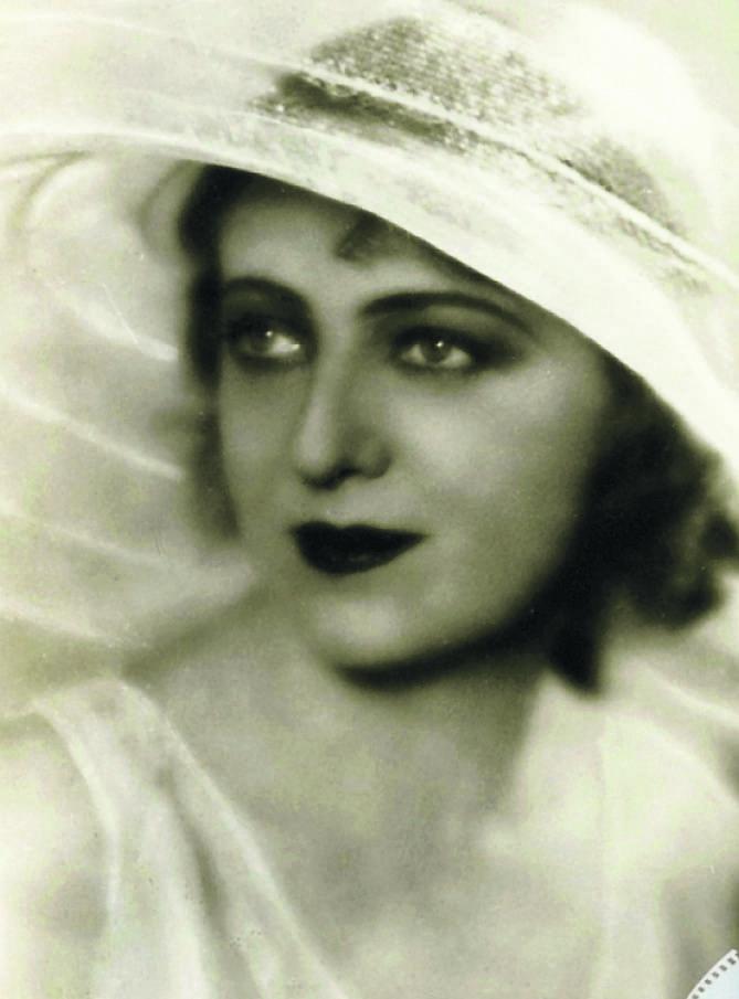 """Maria Malicka jako w filmie """"Wiatr od morza"""", 1930 rok"""