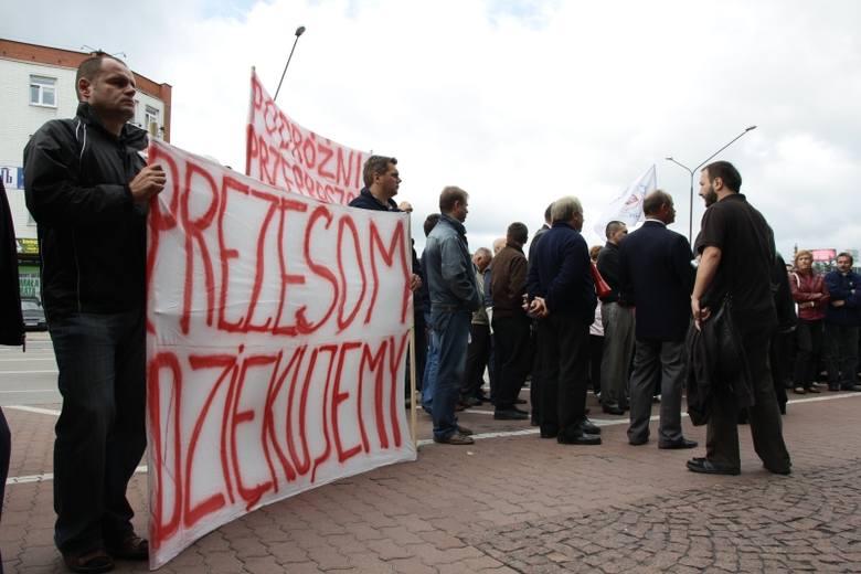 Protest pod Urzedem Marszałkowskim
