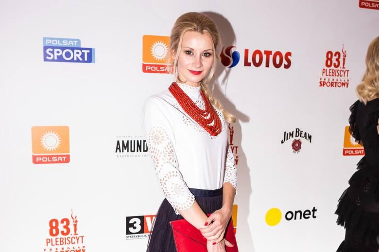 Gala Mistrzów Sportu 2018. W imieniu Kamila Stocha nagrodę odebrała jego żona Ewa Bilan-Stoch (na zdjęciu)