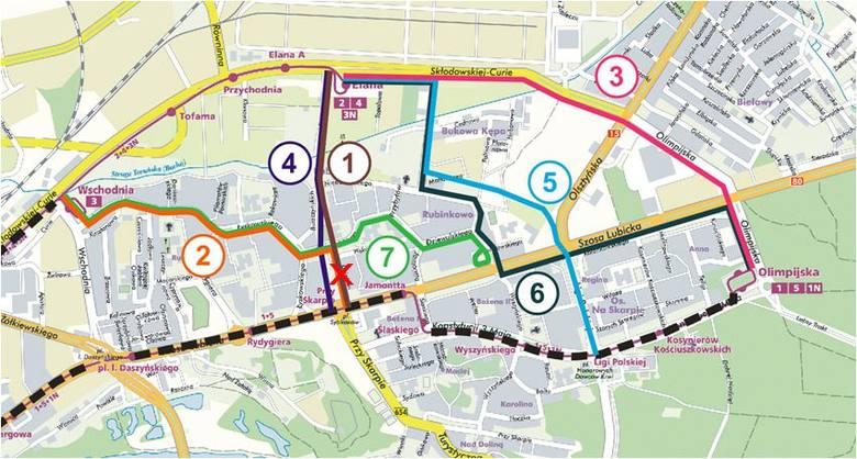 Konsultowanych będzie siedem wariantów tras tramwajowych  na Rubionkowie