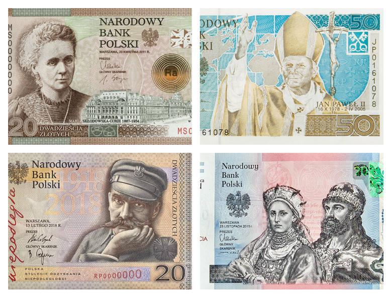 """Narodowy Bank Polski wprowadził do obiegu nowy banknot kolekcjonerski """"Niepodległość"""" o wartości nominalnej 20 zł. Okazją była oczywiście stena rocznica"""
