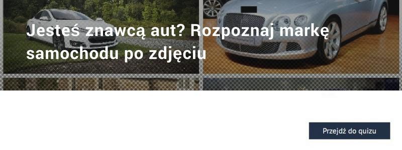Rozpoznaj markę samochodu QUIZ