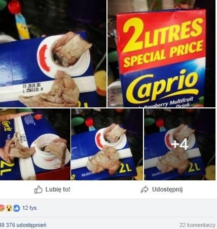 Zdjęcia zawartości soku zszokowały internautów