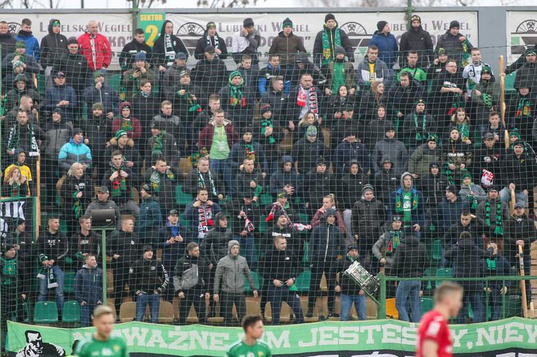 Kibice na meczu Górnik Łęczna - Widzew Łódź. Zobacz zdjęcia z trybun