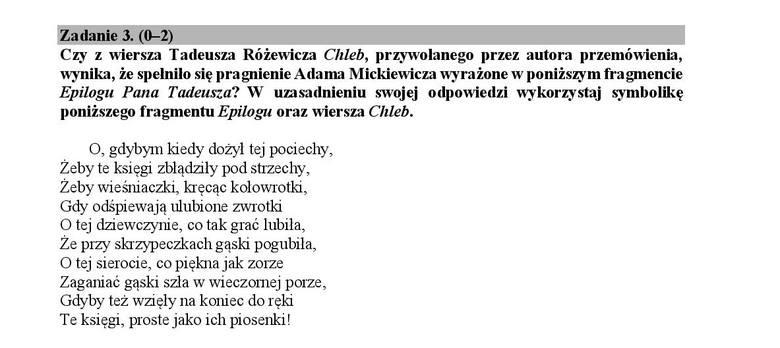 Matura 2018 Polski Interpretacja Wiersza I Zasady Oceniania