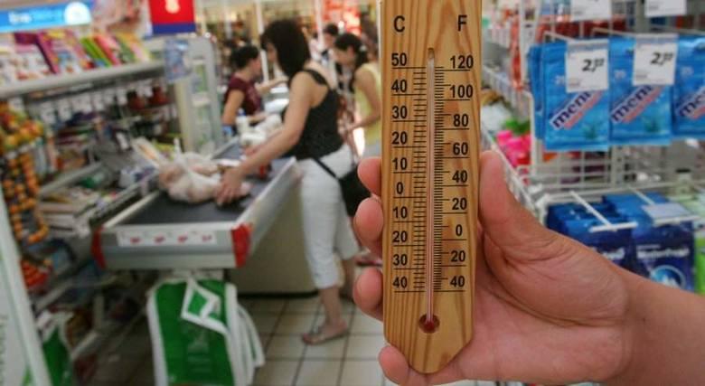 W Realu na Gumieńcach w Szczecinie temperatura sięgała w poniedziałek 30 stopni Celsjusza.