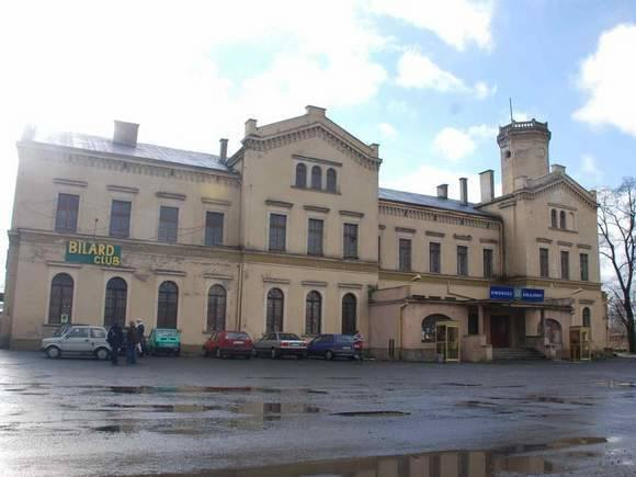Dworzec w Głubczycach.