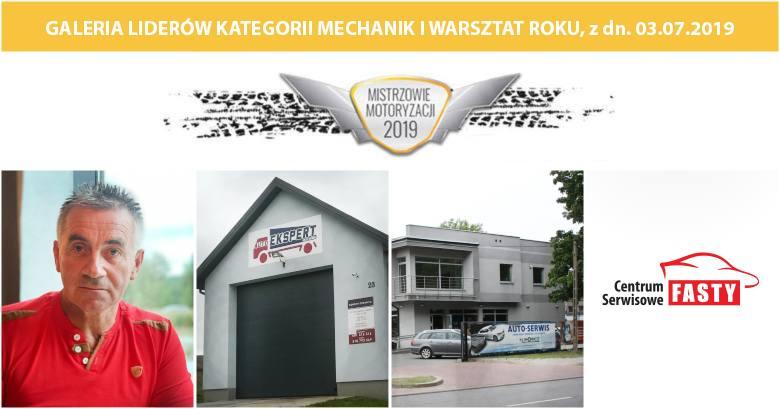 Liderzy w kategorii Mechanik i Warsztat Roku. Lista z dn. 03.07.2019.