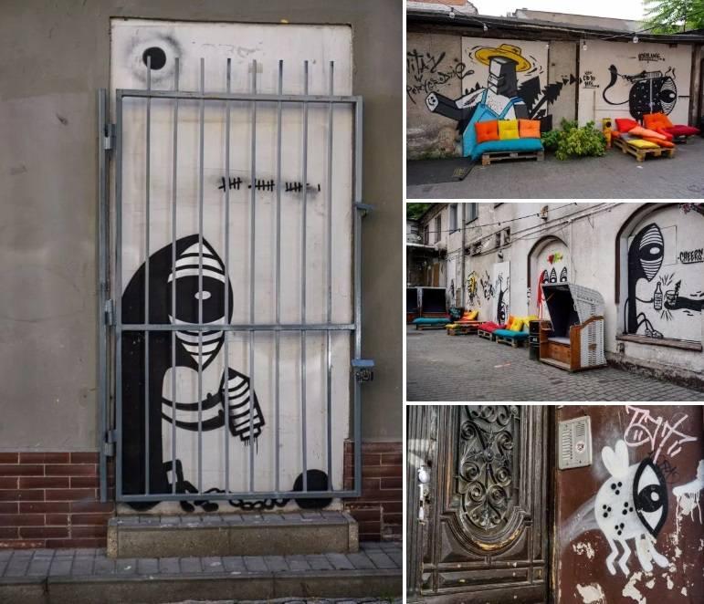 Pan Peryskop zwany też inaczej Watcher to charakterystyczna postać malowana na poznańskich murach przez artystę podpisującego się jako Noriaki. Jak się