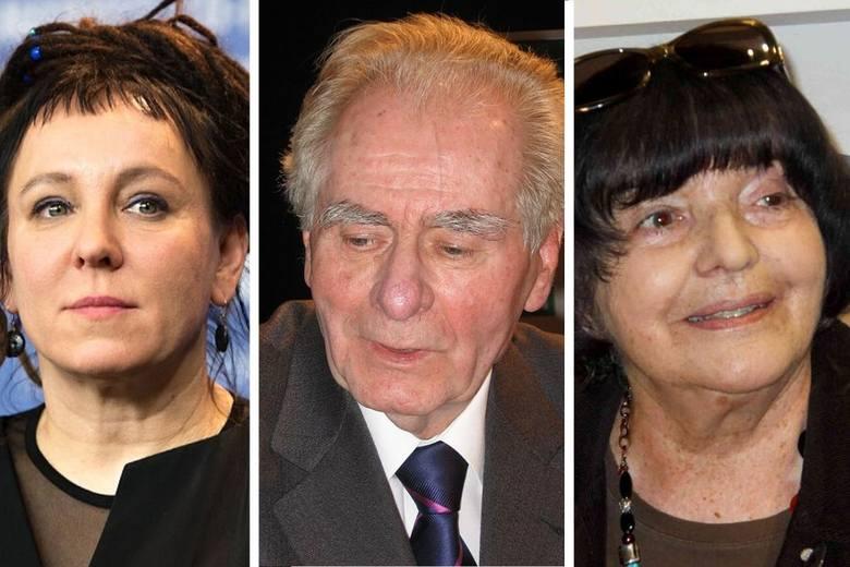 """Olga Tokarczuk, Wiesław Myśliwski, Hanna Krall to tylko trójka z czterdziestu autorów """"Nadziei""""/fot. Wikipedia"""