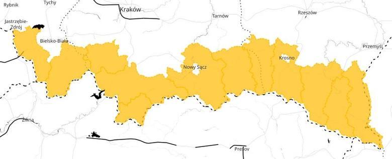 Ostrzeżenie IMiGW przed opadami śniegu na południu Małopolski