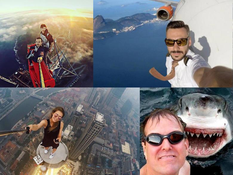 niebezpieczne selfie, selfie stick, najniebezpieczniejsze selfie świata