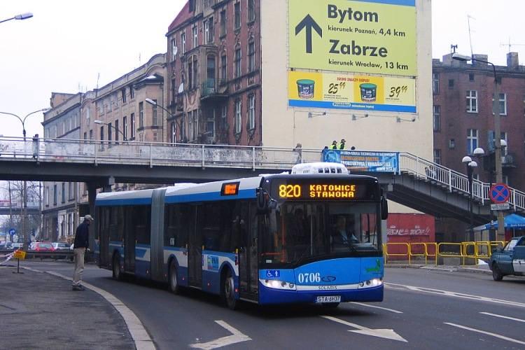 Archiwalne zdjęcie 820 w okolicy bytomskiego dworca autobusowego.