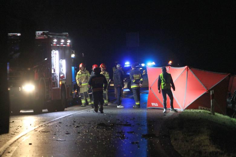 Tragedia na drodze wojewódzkiej numer 871 w Jamnicy. Dwie osoby nie żyją a jedna jest ranna