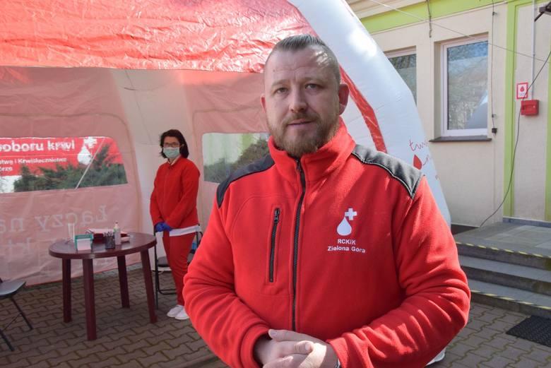 Krzysztof Piwowarczyk z Regionalnego Centrum Krwiodawstwa i Krwiolecznictwa w Zielonej Górze
