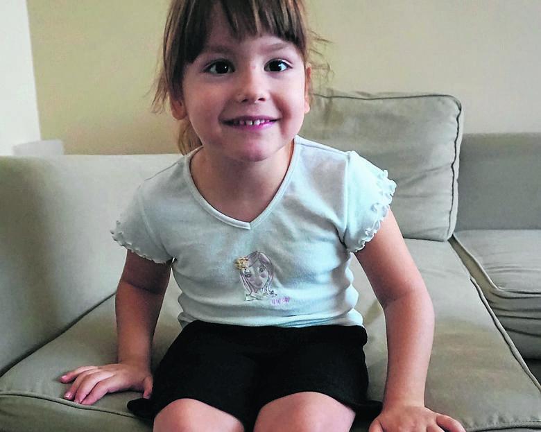 Ania Koźba z Bełchatowa ma pięć lat. Nigdy nie chodziła, ale dzięki operacji w Niemczech będzie mogła wstać z wózka. Problem to pieniądze -   250 tys.